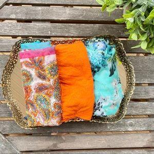 4/$25 3 pack bright infinity scarf bundle